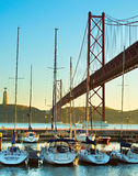 Jachtu klub w Lisbon, Portugalia Obraz Royalty Free
