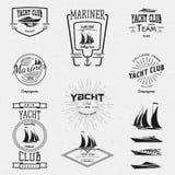 Jachtu klubu odznak etykietki dla żadny i logowie używają ilustracja wektor