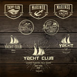 Jachtu klubu odznak etykietki dla żadny i logowie używają Zdjęcie Royalty Free