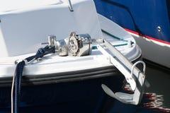 Jachtu kotwicowy winch Zdjęcie Stock