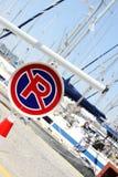Jachtu marina parking Obrazy Royalty Free