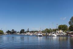 Jachtu marina Ryski Obraz Royalty Free