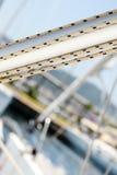 Jachtu masztu szczegół Obrazy Royalty Free
