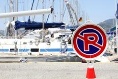 JACHTU parking marynata Obrazy Royalty Free