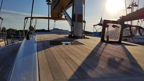 Jachtu pokład Fotografia Stock