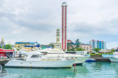 Jachtu port Batumi Fotografia Royalty Free