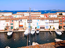 Jachtu schronienie w Portowym Grimaud, Francja Obraz Royalty Free