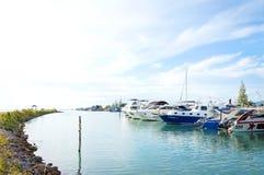 Jachtu status, Bangrak plaża, Samui, Tajlandia Zdjęcie Stock