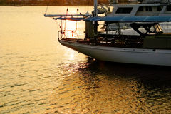 Zmierzchu jachtu Marina Obraz Stock