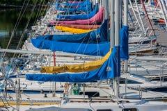 Jachty Cumujący przy Dick Bell parkiem Fotografia Stock