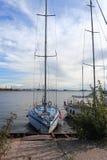 Jachty cumujący w Lahta Fotografia Royalty Free
