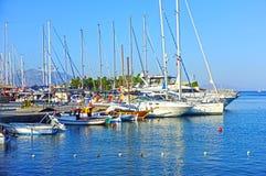 Jachty dokują w marina Obrazy Stock