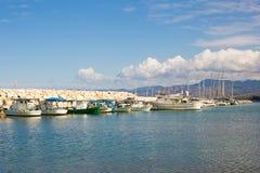Jachty i łódź w porcie Zdjęcie Royalty Free
