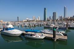 Jachty i łodzie przy Marina w Kuwejt Fotografia Royalty Free