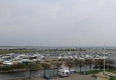 Jachty i ishing łodzie w schronieniu Dragor w Dani Zdjęcie Stock