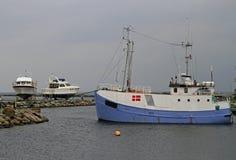 Jachty i ishing łodzie w schronieniu Dragor w Dani Zdjęcia Royalty Free