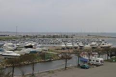 Jachty i ishing łodzie w schronieniu Dragor w Dani Fotografia Stock