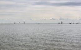 Jachty na horyzoncie Obrazy Royalty Free