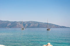 Jachty na Ionian morzu Obraz Royalty Free
