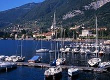 Jachty na Jeziornym Como, Tremezzo, Włochy. Obrazy Stock