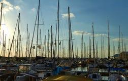 Jachty na morzu ?r?dziemnomorskim fotografia royalty free