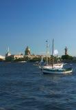 Jachty na Neva rzece Obraz Royalty Free