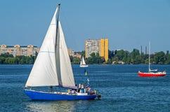 Jachty na rzece Obraz Stock