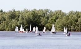 Jachty na rzece Zdjęcie Royalty Free