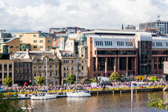 Jachty na Tyne rzece Zdjęcia Royalty Free