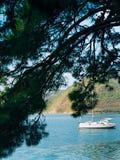 Jachty, łodzie, statki w zatoce Kotor Zdjęcie Stock