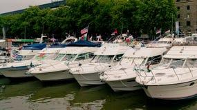 Jachty przy Bristol schronienia festiwalem zdjęcie royalty free