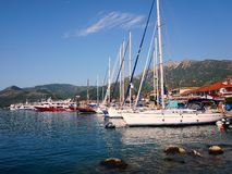 Jachty przy Lefkada, Grecja Zdjęcia Royalty Free