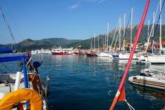 Jachty przy Lefkada, Grecja Fotografia Royalty Free