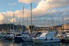 Jachty przy portem Lavagna italy Liguria fotografia royalty free