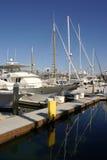 Jachty przy Redondo plażą Zdjęcia Royalty Free