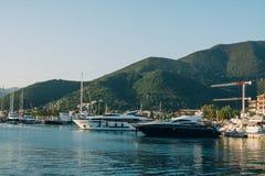 Jachty schronienie, Tivat, Montenegro Zdjęcia Royalty Free