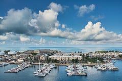Jachty w Bermuda porcie Fotografia Royalty Free