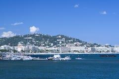 Jachty w Cannes portu Pierre Canto fotografia royalty free