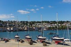 Jachty w Dartmouth Marina Devon Anglia UK podczas lata heatwave 2013 Zdjęcia Stock