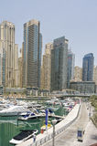Jachty w Dubaj schronieniu, Zlani Arabscy emiraty Obraz Stock