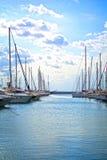 Jachty w marina Zdjęcia Royalty Free