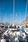 Jachty w Puerto De Mogan, Gran Canaria Zdjęcia Royalty Free