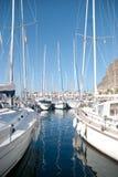 Jachty w Puerto De Mogan, Gran Canaria Obraz Stock