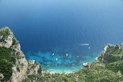 Jachty w morzu Zdjęcia Royalty Free