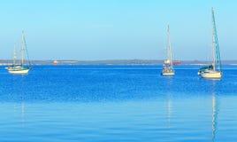 Jachty w morzu karaibskim Fotografia Royalty Free