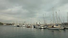 Jachty w Pogodnej pogodzie Zdjęcia Stock