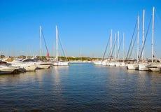 Jachty w porcie Obrazy Royalty Free