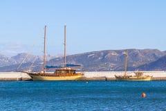 Jachty w porcie Zdjęcia Stock