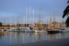 Jachty w porcie Barcelona Obraz Royalty Free