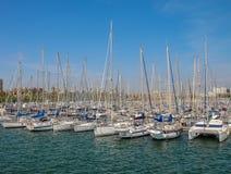 Jachty w porcie Barcelona Fotografia Royalty Free